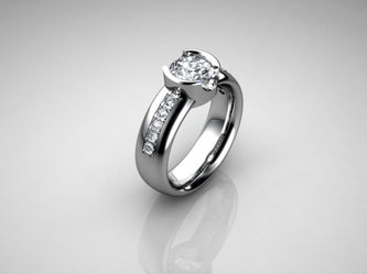 modern solitaire diamond engagement ring ri with accents